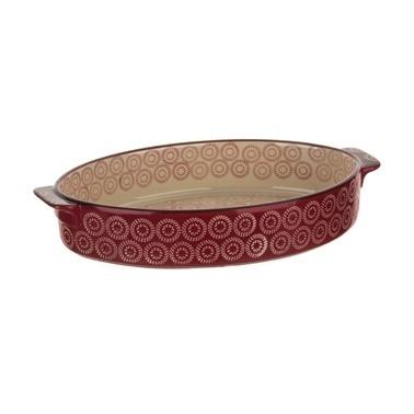 Aryıldız Orient Sd Orta Boy Oval Kırmızı Fırın Kabı Kırmızı